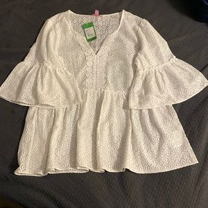 Resort White Lilly Pulitzer Top NWT